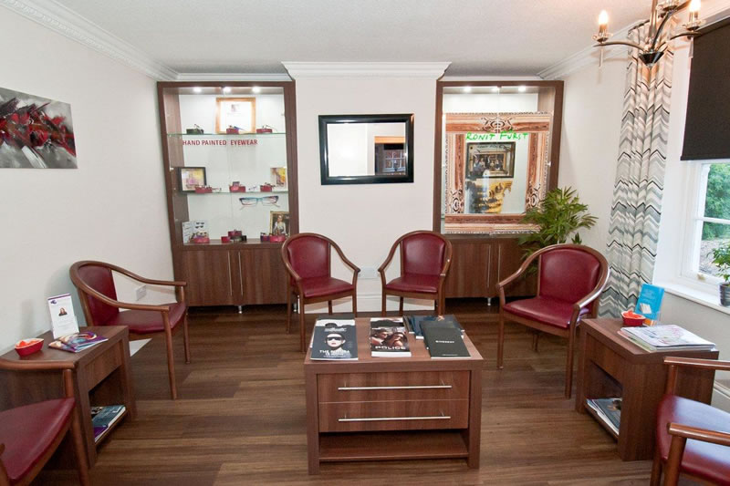 our opticians waiting room